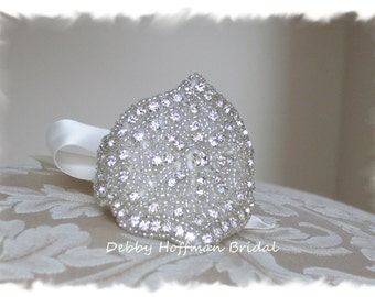 Wedding Cuff Bracelet, Bridal Cuff Bracelet, Rhinestone Bridal Cuff, Crystal Wedding Cuff, Bridal Wedding Bracelet Jeweled, No. 2061CB