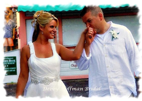 Jeweled Bridal Sash, Rhinestone Wedding Dress Belt, Rhinestone Crystal Bridal Sash, Vintage Style Bridal Belt, No. 1101S-1171-18