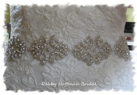 Bridal Sash, 12 Inch Rhinestone Crystal Wedding Dress Sash, Crystal Bridal Belt, No. 1171S4, Jeweled Wedding Belt, Rhinestone Wedding Sash