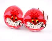 Alice in Wonderland Cheshire Cat Earrings