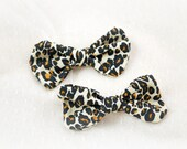 Leopard Bow Hairclips