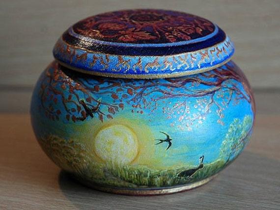 Goddess trinket pot