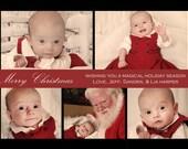 Christmas Photo Card - Simple Elegance - printable, digital file