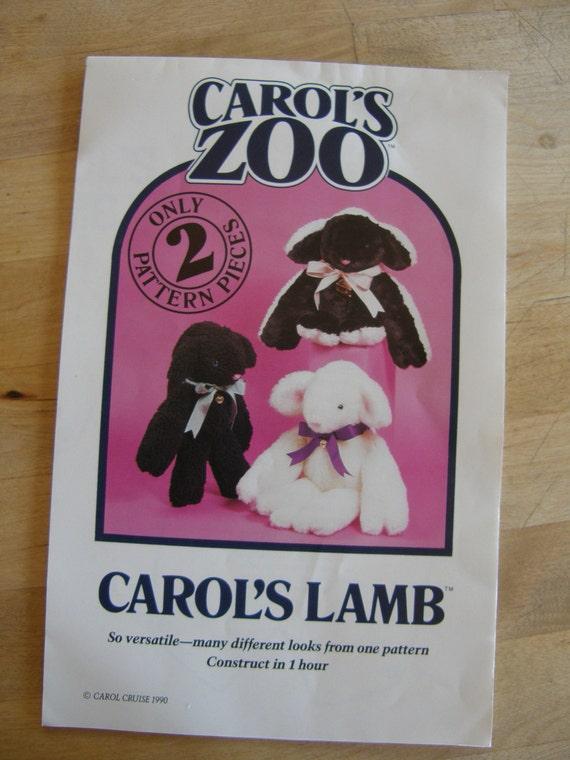 Vintage Stuffed Animal Pattern - Carol's Lamb