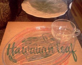 "Federal Glass Company ""Hawaiian Leaf"""