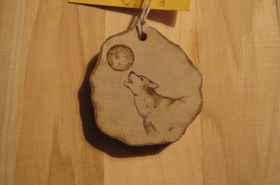 Wolf Necklace (or Key Chain) Ready to be Personalized