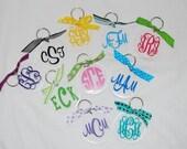 Personalized Acrylic Key Chain - Monogram Keychain
