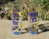 BIG and LITTLE Set - Personalized Shot Glass Greek