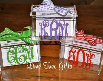 Personalized Recipe Box with 30 matching cards