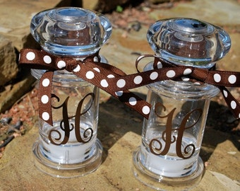 Monogram Salt and Pepper Shakers