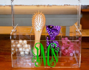 Personalized Caddy - Monogram Caddy - Acrylic Utensil Holder