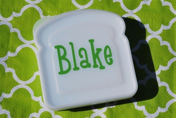 Personalized Sandwich Container - Lunch Box
