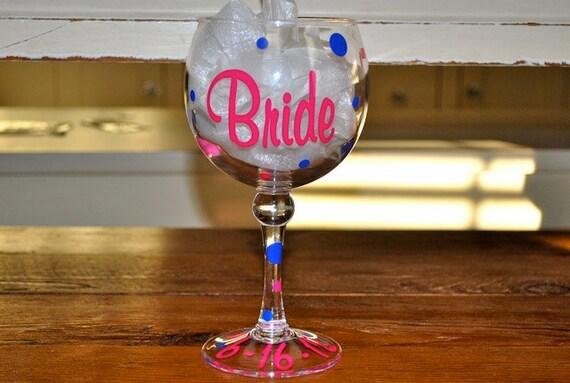 Bachelorette Jumbo Acrylic Wine Glass - Personalized
