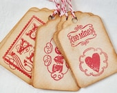 Vintage style Valentine's gift tags