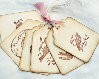 Vintage Inspired Gift Tags Birds