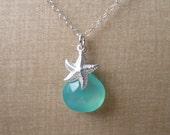 Chalcedony Starfish Necklace