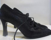 Vintage NOT YOUR ORDINARY GRANNY BOOTS in Black