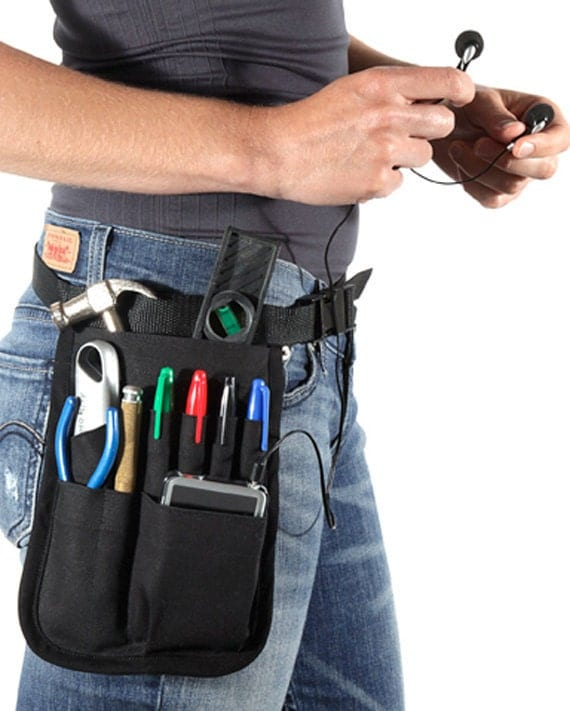 Tool Belt Hip Pouch HipNotions Pockets for iPhone,  iPod,  Blackberry, Cellphone, Pens Notepad