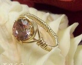 Gizmo Topaz Ring in 14kt Gold Filled- on sale