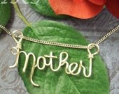 Name or Word Pendant in Gold or Silver Enameled Wire
