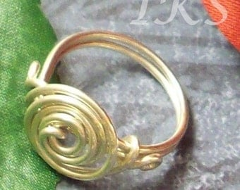 Coiled Sterling Silver Ring