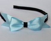 The Perfect Bow Headband in Baby Blue