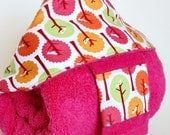Hooded Bath Towel and Washcloth Set in Birds in Trees: for Baby, Toddler or Preschooler by SweeterThanSweets - Deluxe and ECO-FRIENDLY