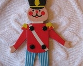 SALE  Vintage TOY SOLDIER Fold Up Christmas Tree Ornament