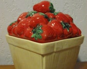 House of Webster STRAWBERRY PINT CANISTER Cookie Jar