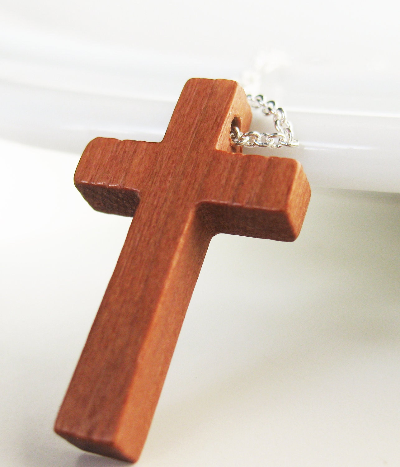 New Wooden Cross Necklace Religious Christian Jewelry