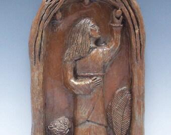 Handmade St. Dorothy Statue: Patron of Gardeners, Brides