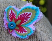 Handmade, Unique, Colorful, Super Cute Hair Clip, Bow, Accessory for Fall and Autumn