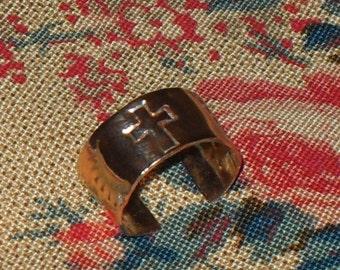 Copper Ear Cuff With Cross