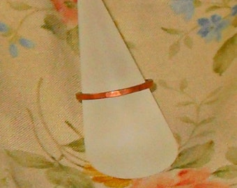 Thin Hammered Copper Stacking Ring