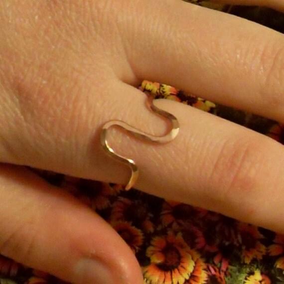 Gold Filled Hammered Ring