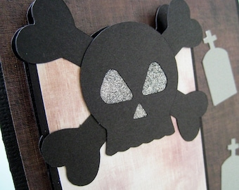 Card with Removable Bookmark - Skull Ghost Stories