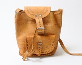 Reserved: Vintage Light Brown Leather Ethnic Native American Soutwestern Purse