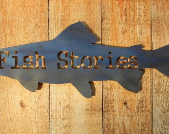 Fish Stories, Metal Art for Indoors or Outdoors