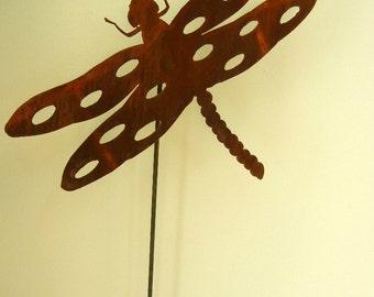 Dragon Fly (Large), Metal Garden Stake
