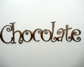 Chocolate, Metal Word Art
