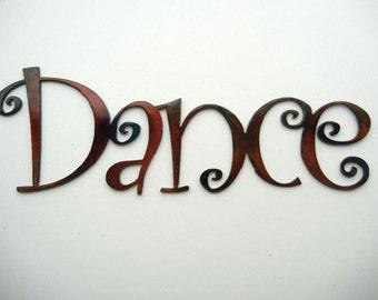 Dance, Metal Word Art