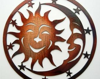 Sun Moon Stars (Large), Metal Artsy Sign