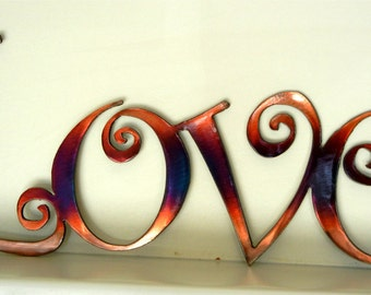 Love (curly letters), Metal Art
