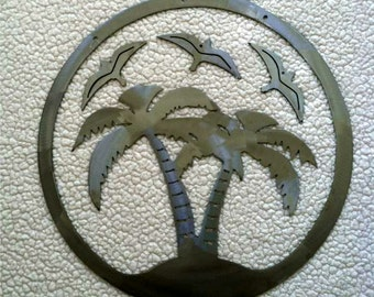 Palm Tree Metal Wind Chime