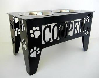 Custom Raised Dog Bowl Stand - Large