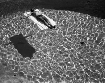 Floating Swimmer Fine Art Silver Print