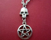 BLOWOUT SALE - Skull and Pentacle Chain Necklace