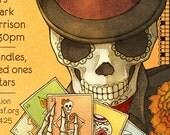 Day of the Dead Poster Skeleton Loteria Dia de los Muertos