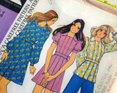 Vintage McCall's Pattern 3868, size 12 dress, Misses Dress or Top and Pants, copyright 1973