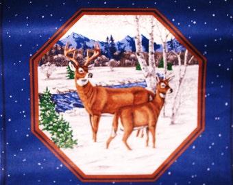 VIP Cranston Fabric Panel White Tail Deer